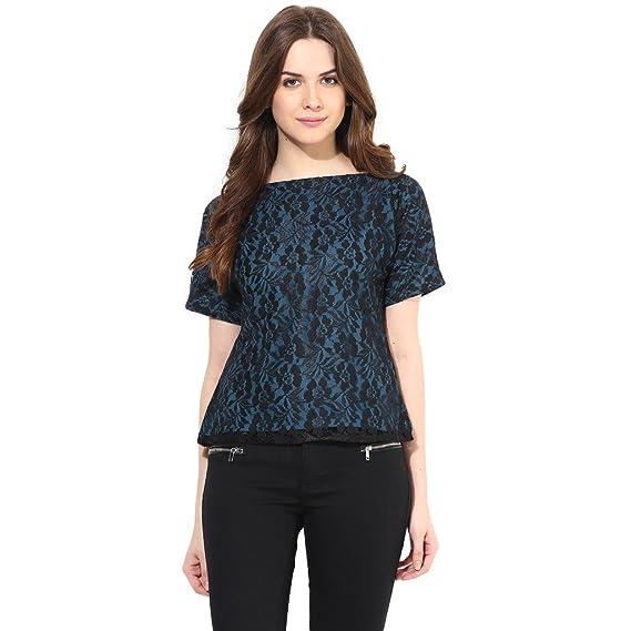 Abiti Bella Women'S Blue Shirts Women's Blouses & Shirts at amazon