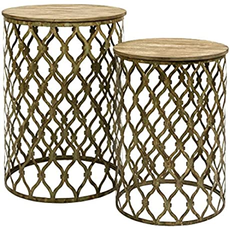 Maridell Nesting Tables Set Of 2 Gold