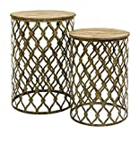 Product review for Maridell Nesting Tables, Set of 2, Gold