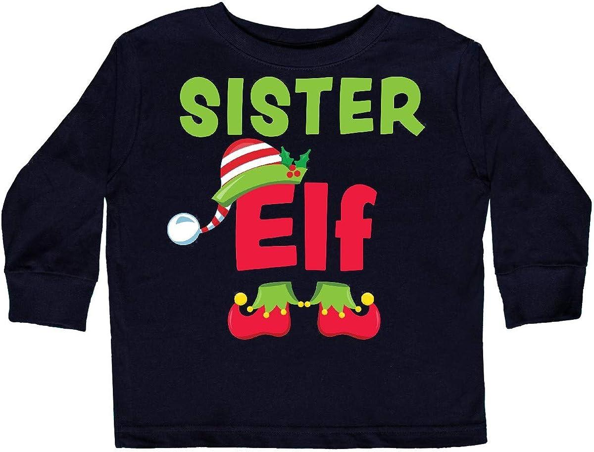 inktastic Christmas Sister Elf Toddler Long Sleeve T-Shirt