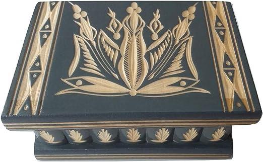 Hecho a mano Nueva Hermosa Caja mágica, misteriosa Caja, Puzzle Caja, Caja Secreta, casilla complicado, Caja de Madera Tallada, Juguete de Madera (Gris): Amazon.es: Hogar
