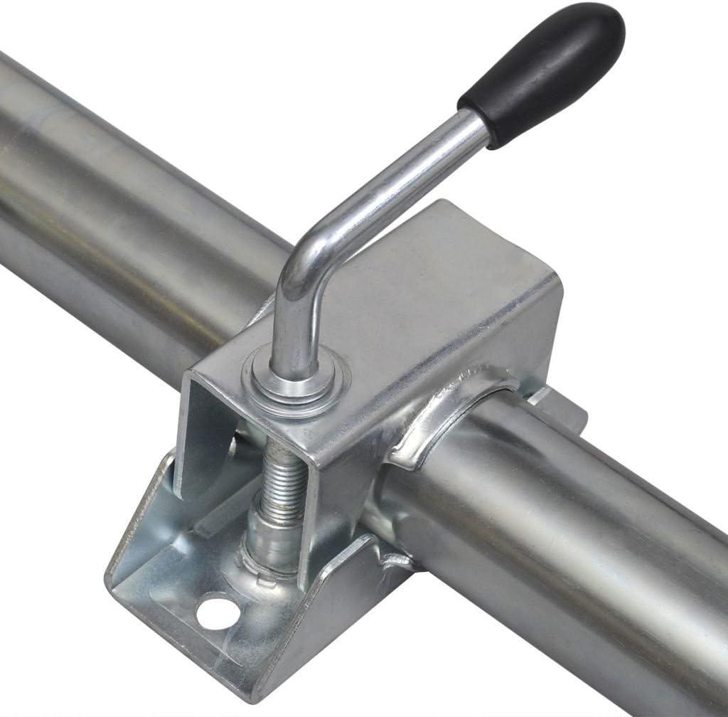 Trasportare e Posizionare Accessori per Veicoli Ruota di Sostegno Set 2 Tubi Supporto e 2 Morsetti Divisori per Ruota di Sostegno 48 mm