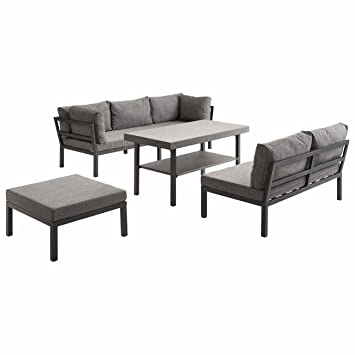 Amazon.de: OUTLIV. Lounge Set Austin Loungemöbel Alu/Textil 4-tlg ...