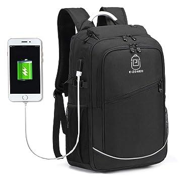 Myhozee Mochilas Escolares Mochila para Portátil 17 Pulgadas -Mochila Impermeable Daypacks Mochilas de Viaje Hombre Mujer con USB Puerto de Carga ...