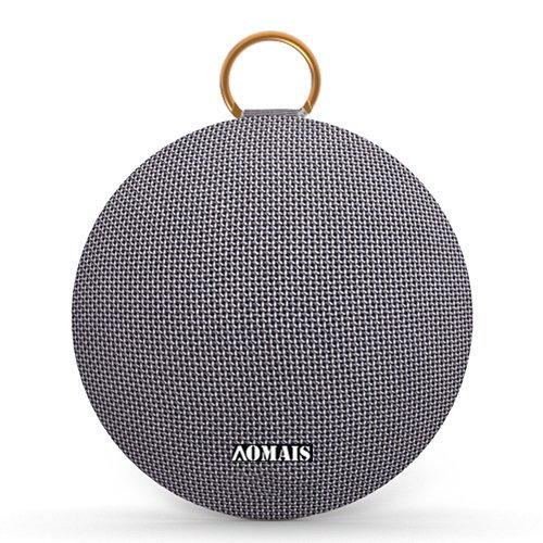 AOMAIS Ball Bluetooth Speakers, Wireless Portable Bluetooth Speaker IPX7 Waterproof, 15W Superior Surround Sound with DSP, Stereo Pairing for Outdoor,Travel,Shower,Beach,Party (Gray)