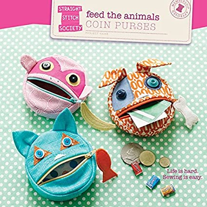 Amazon Feed The Animals Coin Purses Sewing Pattern Liesl Extraordinary Purse Sewing Patterns