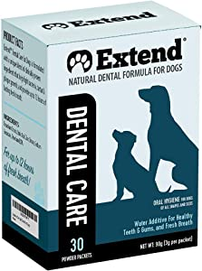 Extend Dental Care for Dogs Water Additive - Advanced Formula to Whiten Teeth, Fight Plaque & Tartar, Kill Germs