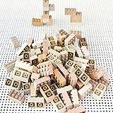 New Mokulock Wooden Building Blocks, 34 Pieces, New Square and Rectangular Blocks