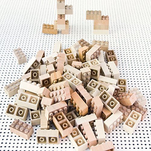 New Magnolia (New Mokulock Wooden Building Blocks, 34 Pieces, New Square and Rectangular Blocks)