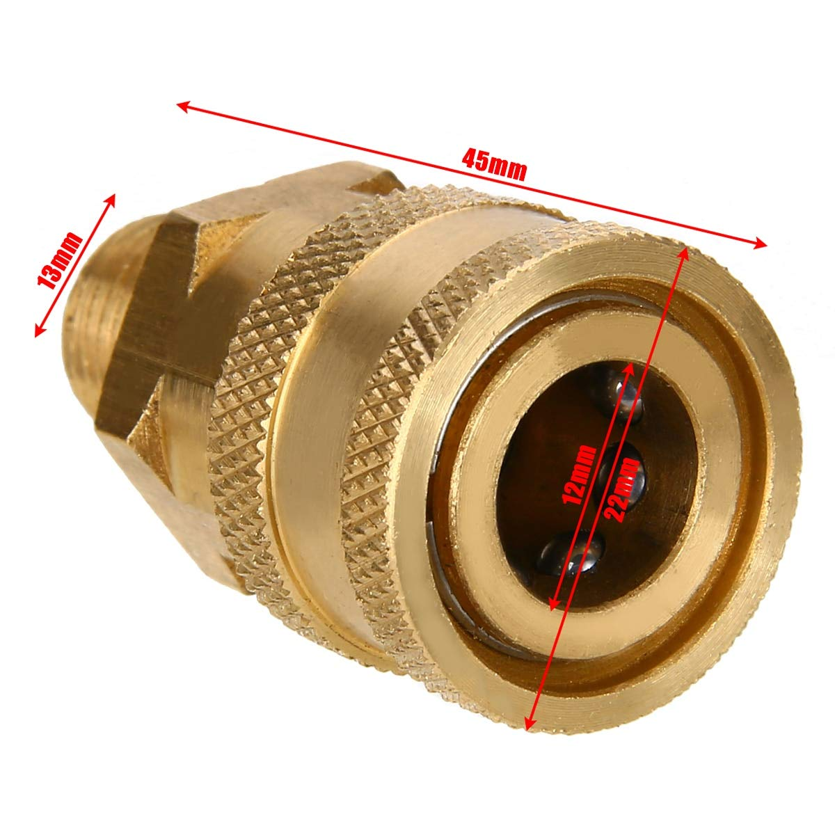Ochoos 1pc 1/4'' Male (MNPT) High Pressure Washer Brass Quick Connect Coupler Converter for Hot Cold Power Washers Connector Fittings