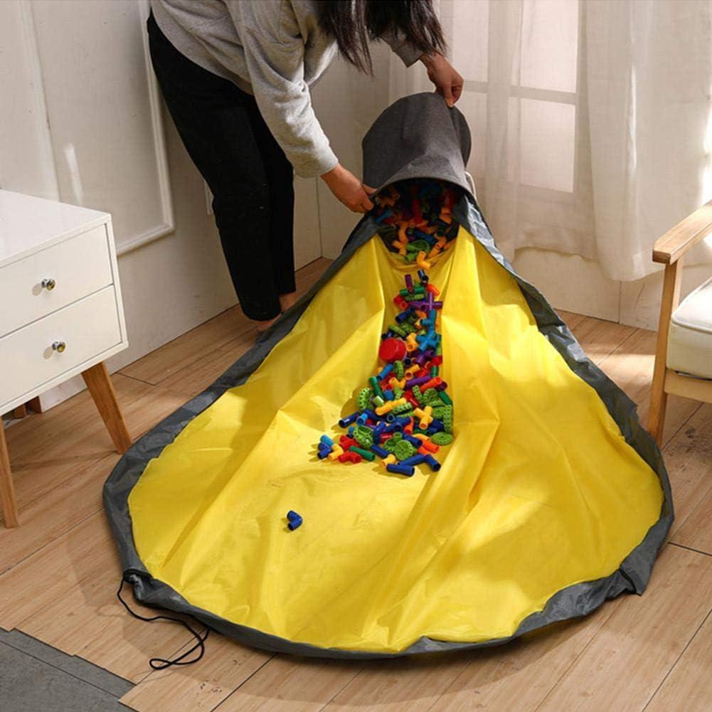 Organisateur de Stockage de Jouets Slide Away Basket Storage Toy and Play Mat Nursery Organizer Quick Toy Clean-up Finishing Bucket wonderday Panier de Rangement pour Jouets