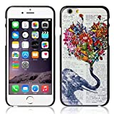 Roodfox Fashion Elephant Design Hard Case Cover Skin For iPhone 6 6G 4.7 Inch