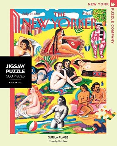 New York Puzzle Company - New Yorker Sur la Plage - 500 Piece Jigsaw Puzzle