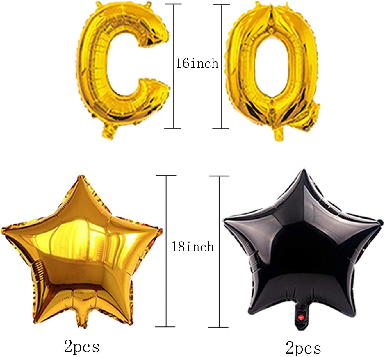 Star Foil Balloons Black and Gold Congrats Grad Balloons for Grad Party Supplies PhD balloons Graduation Decorations 2021 Best Graduation Party Favors Decorations for Class of 2021 066A