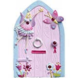 Kids Magical Fairy Door (Glittery Hand Painted Skirting Board / Wall / Door Ornament) Lucy Locket
