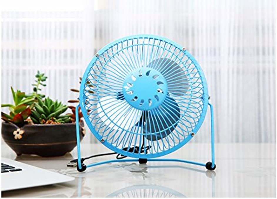 6, blue LemonGo USB Mini Desktop Fan Power PC Laptop Fan Desk Table with USB