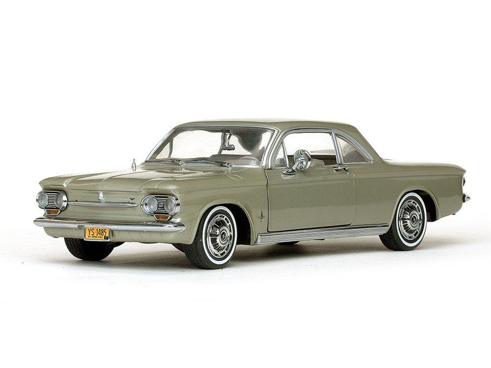 Chevrolet Corvair Coupe, metallic-hellgrün, 1963, Modellauto, Fertigmodell, Sun Star 1:18
