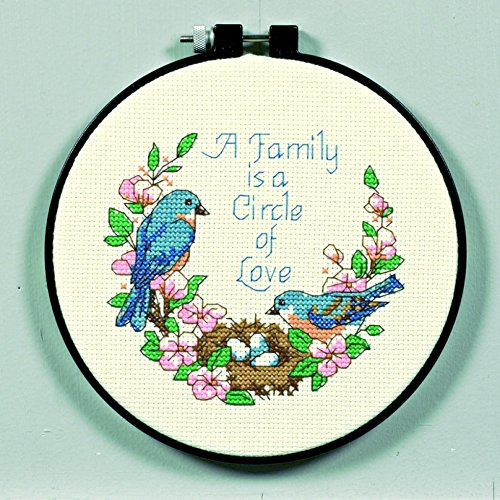 Dimensions Learn A Craft Counted Cross Stitch Kit Family Love ()