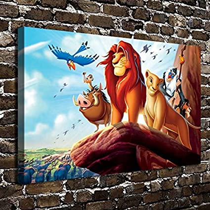 Lion King Characters Canvas Picture