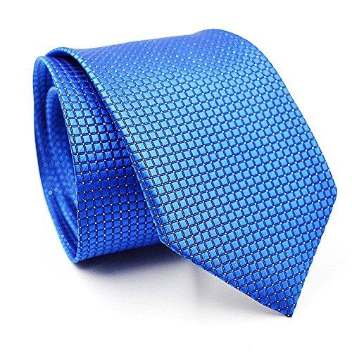 Cren Men's Business Silk Jacquard Necktie Woven Plaid Wedding Tie Fashion Accessories (Royal blue) (Protective Mase compare prices)