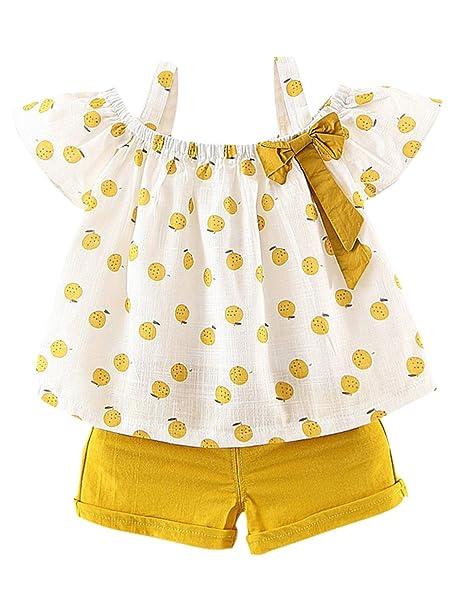 Amazon.com: Conjunto de ropa de verano para niñas y bebés ...