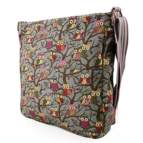 Grey Canvas Bag Messenger London Stylla wI78YB