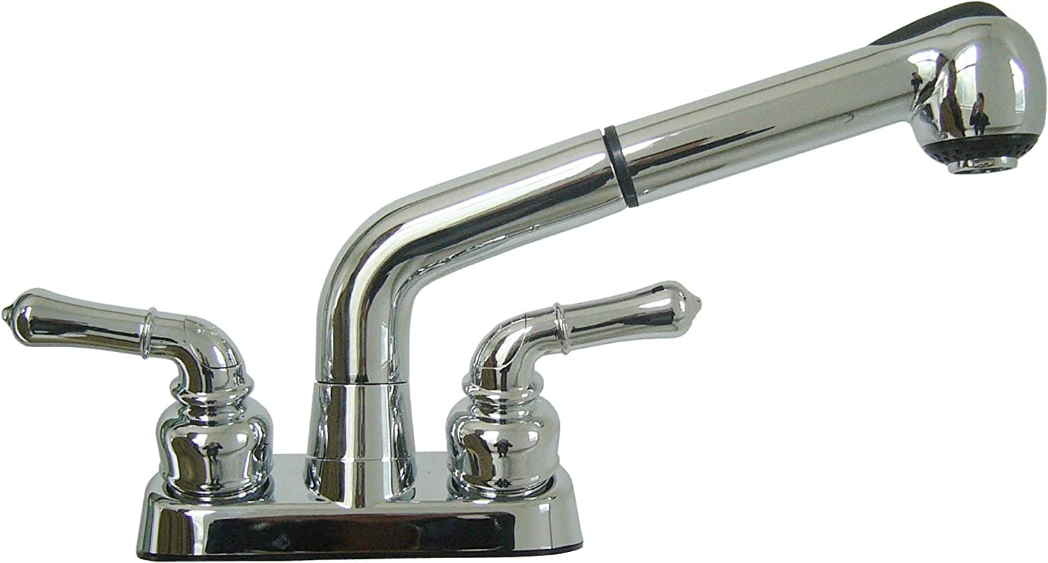 Wasserman 11053020 - Wasserman 11053020-Universal Laundry Tub Faucet | Pull Out Spray Spout, Non-Metallic ABS Plastic, Chrome Finish