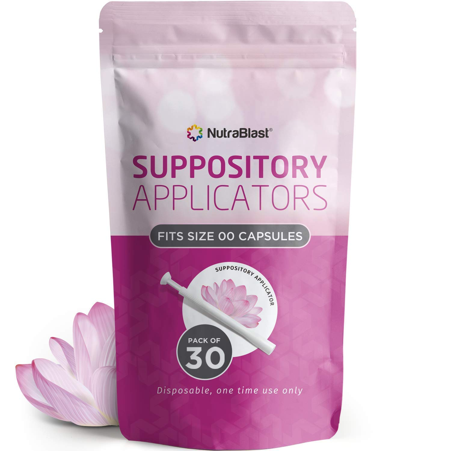 NutraBlast Disposable Vaginal Suppository Applicators (30-Pack) | Fits Most Brands, Pills, Tablets and Boric Acid Suppositories | Individually Wrapped