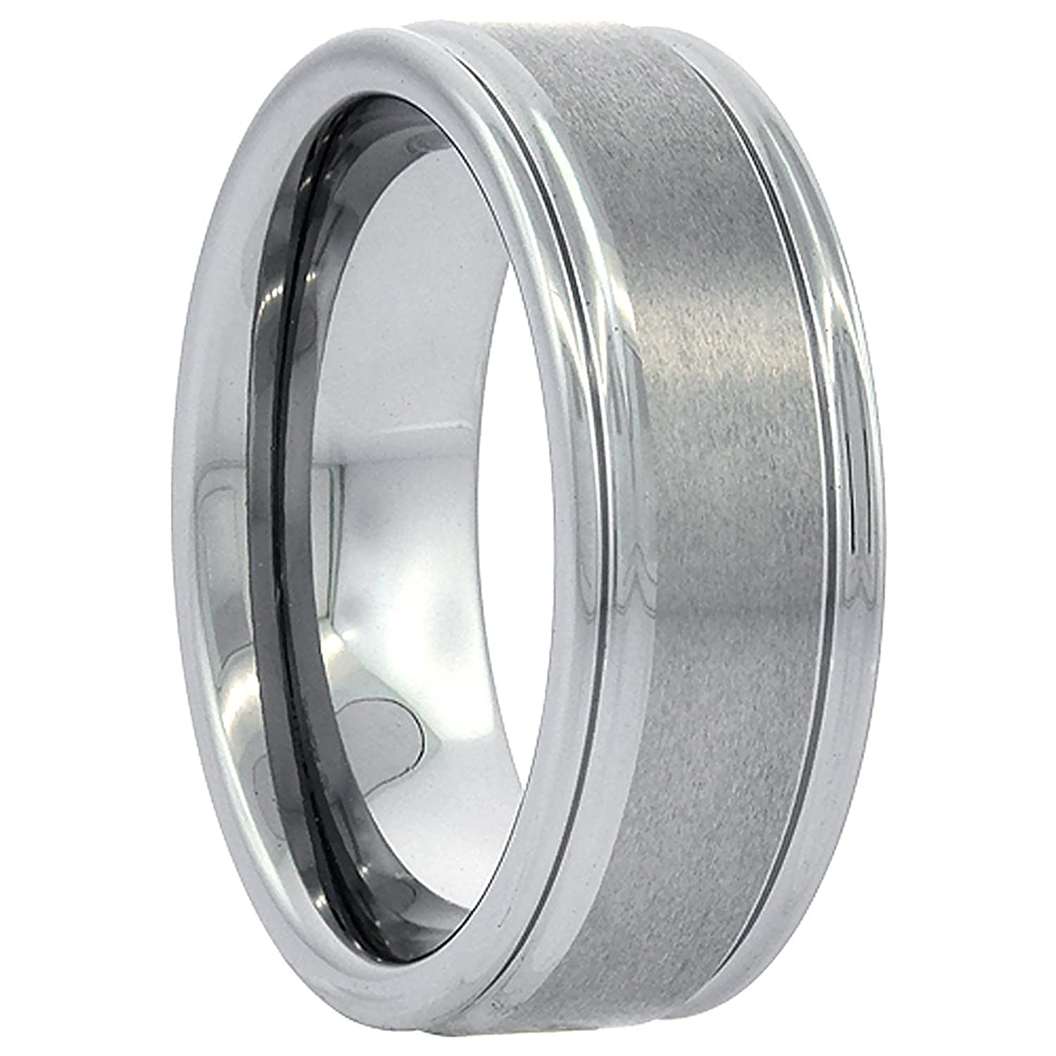 Tungsten Wedding Grooved Brushed Comfort Image 3