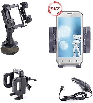 DURAGADGET – Soporte 3 en 1 para smartphones/móviles Haier W716, W850, y W851 coche rejilla de ventilación, parabrisas tablero de planificación – Cargador para el coche): Amazon.es: Electrónica