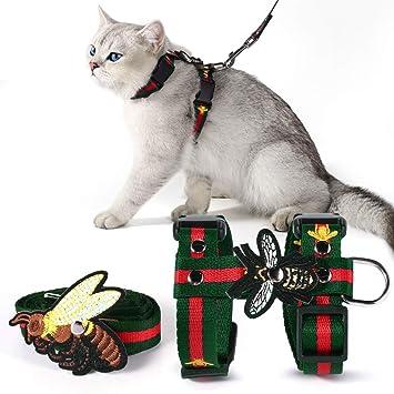 Amazon.com: Unihubys - Arnés para gato con correa, ajustable ...