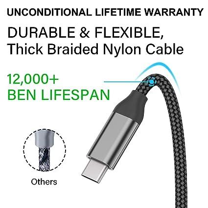 Amazon.com: Cable de carga, 2 unidades, 32.8 ft, cable de ...