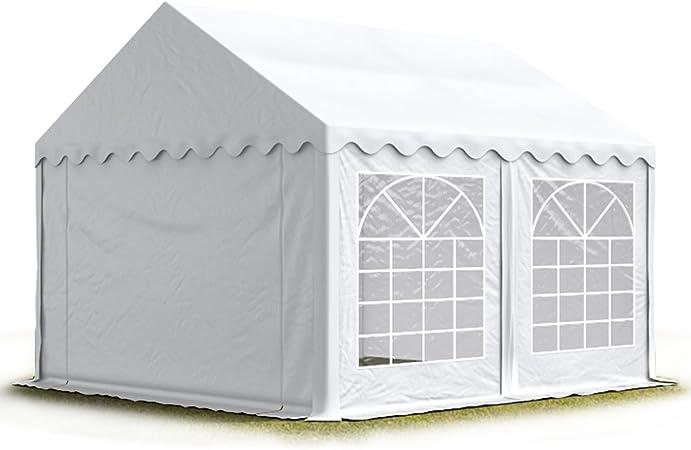 Toolport Party Zelt Festzelt 3x4 M Garten Pavillon Zelt 500gm² Pvc Plane In Weiß Wasserdicht