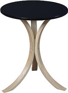Niche Modern Mia Side Table, 18-Inch,Natural/Black