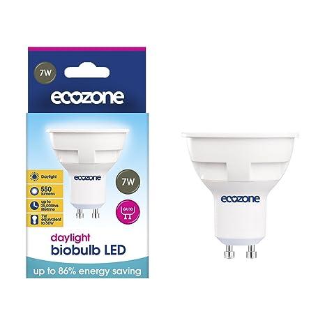 Ecozone - Bombilla LED, GU10, de ahorro de energía, 7 W ...