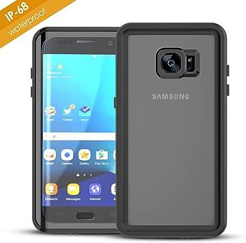 Funda Impermeable Samsung Galaxy S7 Edge, HAPPON[Certificación IP68]Ultra Delgado a prueba de choques a prueba de polvo Anti-rasguños con Protector de Pantalla para Samsung Galaxy S7 Edge(Negro): Amazon.es: Electrónica