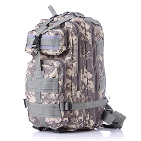 Oxford Military Tactical Army Assault Pack Backpack Waterproof Molle 3P Outdoor Hiking Camping Fishing Hunting Sport