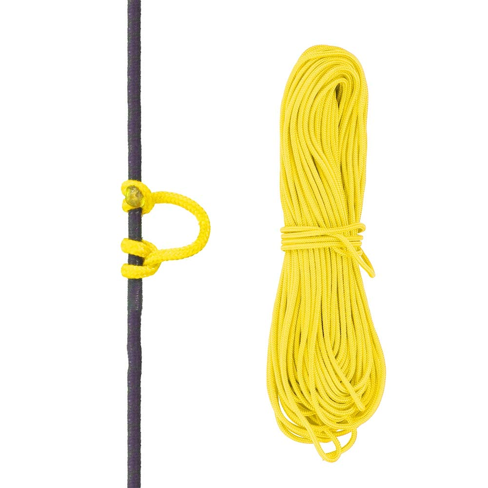 VGEBY Bowstring Loop, Archery Compound Bow D-Loop Rope Wire String Bow Release Nock Loop Accessory(Yellow)