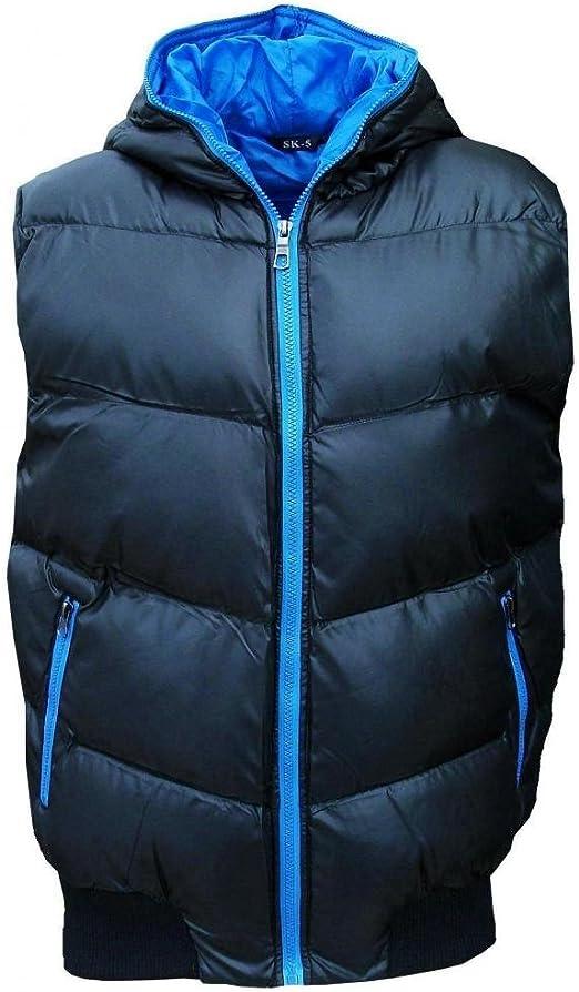 Ladies Gilet body warmer padded warm SLEEVELESS JACKET  HOODED SK5 NEW BLACK