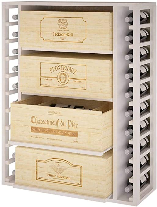 ZonaWine - Mueble Botellero para 4 Cajas de vino/12 Botellas ...