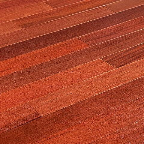 Save in Bulk - Full Pallet ( 48 Boxes - 1092 Sq ft.) MazamaHardwood - Andes Collection - Natural - Santos Mahogany - Builders - 3 - Santos Mahogany Hardwood Flooring