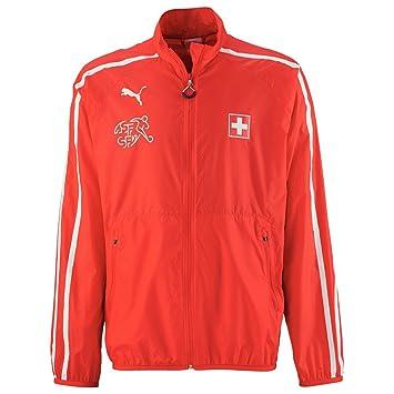 PUMA Camiseta Chaqueta Puma Suisse Rojo- - White Talla:large