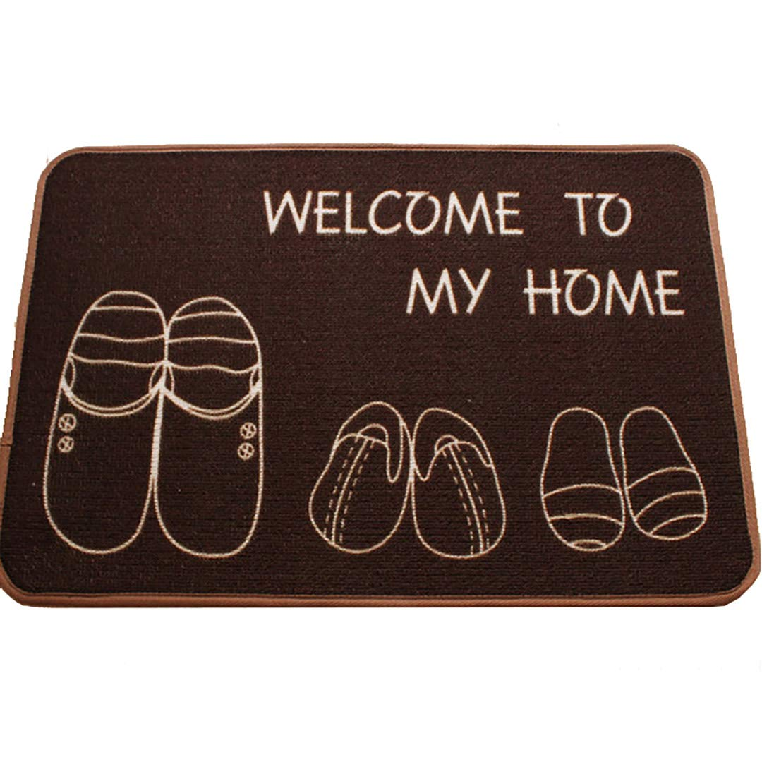 Dark brown 60x90cm(24x35inch) Door mat,Entrance Rug Front Door Rug Bathroom Welcome mats for Indoor Outdoor Floor mat-Brown 80x120cm(31x47inch)