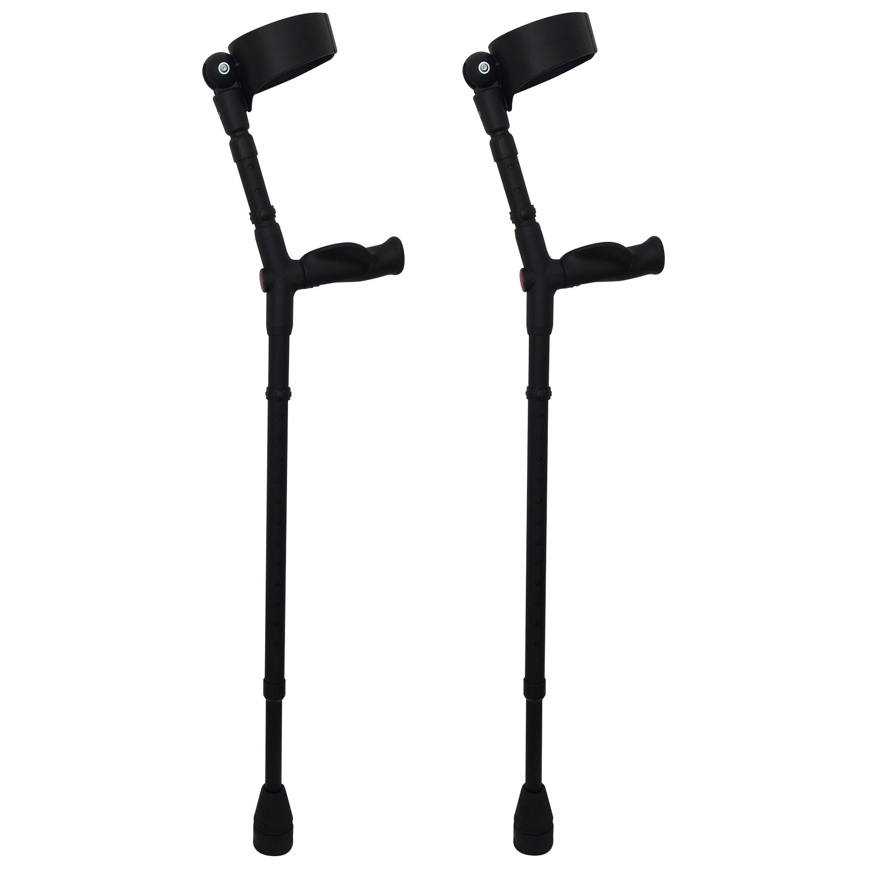 Thomas Fetterman Walk Easy 495 Adjustable Forearm Crutches Customizable with Choice of Tips (Adjustable with Tornado Gel Tip)