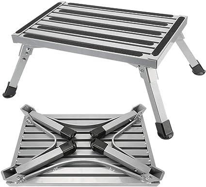 NOBGP Escalones de Plataforma Plegables de Aluminio, Taburete ...