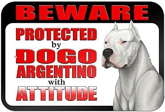 Inga Letrero de Lata con Advertencia de Actitud Beware Protected ...