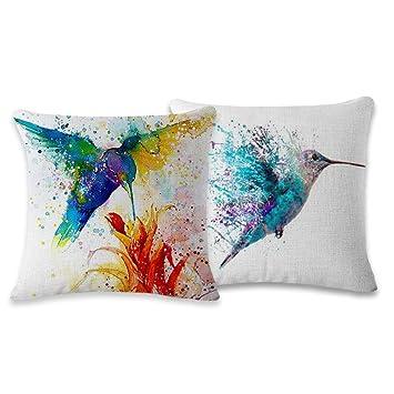 Amazon.com: Myathle - Funda de almohada decorativa de lino y ...