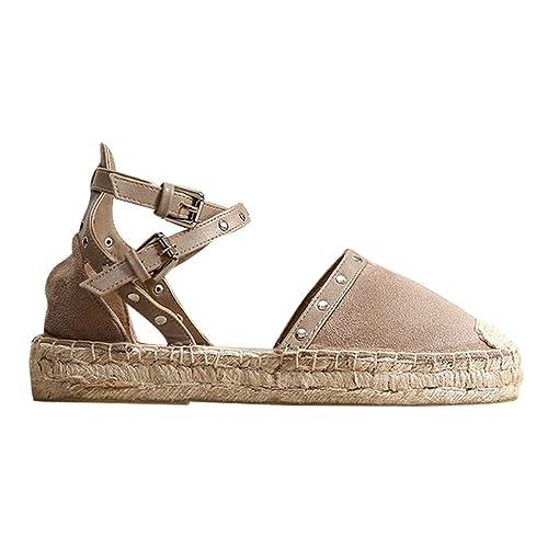sélectionner pour le meilleur nouveau style de 2019 usine authentique Xinwcang Sandales Fermées Femme Casual Été Cheville Sangle ...