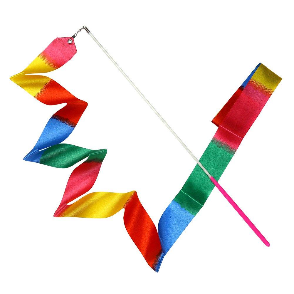 Ruban Jouets Ruban de Gymnastique Danse Streamer avec cl/é dorchestre dansante pour Enfants Dancing MUAI 10/pi/èces 4/Metre Rainbow Danse Ruban de Gymnastique Rythmique Rubans