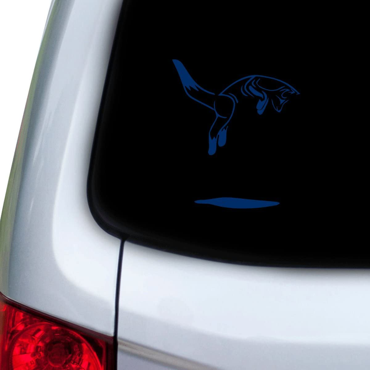 StickAny Car and Auto Decal Series Fox Jumping Sticker for Windows White Hoods Doors